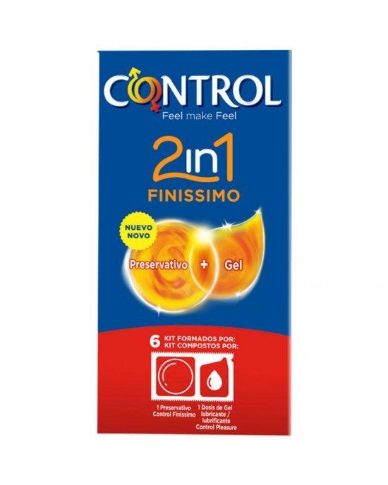 Preservativo finissimo 2 in 1 confezione 6 pezzi - Control