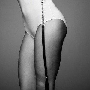 Collare nero con catena - Bijoux Indiscrets