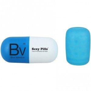 Masturbatore uomo Sexy Pills bianco/blu - Love to love