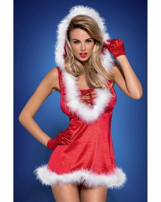 Miniabito rosso Santa Lady S/M - Obsessive