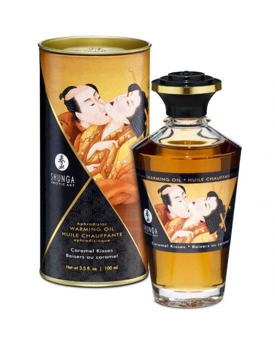 Olio afrodisiaco riscaldante caramello - Shunga