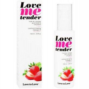 "Olio da massaggio alla fragola ""Love me tender"" 100 ml - Love to Love"