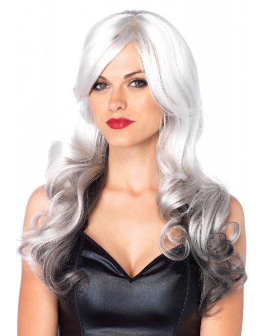 Parrucca Allure bianca/grigia ondulata - Leg Avenue