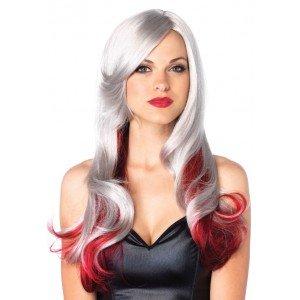 Parrucca Allure grigia/rossa ondulata - Leg Avenue