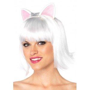 Parrucca bianca caschetto gatto - Leg Avenue