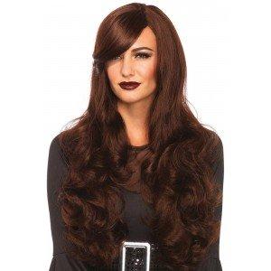 Parrucca capelli mossi castani - Leg Avenue