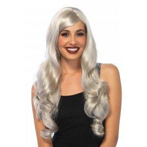 Parrucca capelli mossi grigi - Leg Avenue