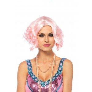 Parrucca caschetto boccoli rosa - Leg Avenue