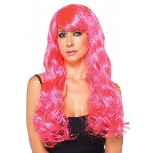 Parrucca Neon Star rosa - Leg Avenue
