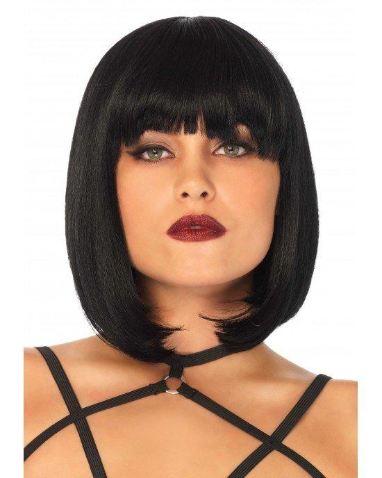 Parrucca nera caschetto frangia - Leg Avenue