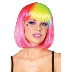 Parrucca Rainbow caschetto rosa - Leg Avenue