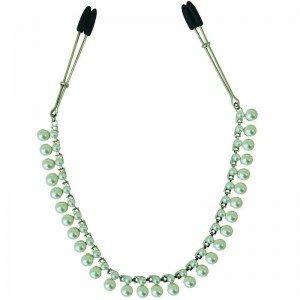 Pinze per capezzoli con catena di perle - Sportsheets