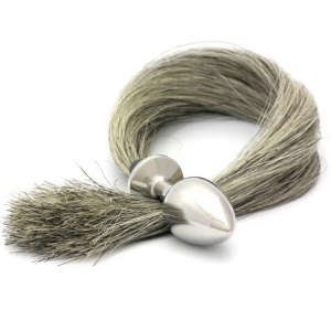 Plug anale Tailbud grigio 6,1cm - Rosebuds
