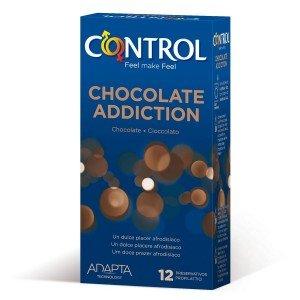 Preservativo cioccolato addiction confezione 12 pezzi - Control