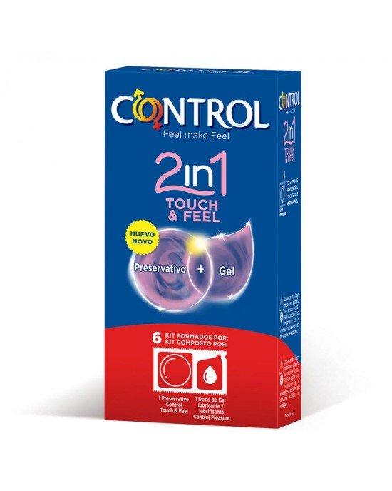 Preservativo touch & feel 2 in 1 confezione 6 pezzi - Control