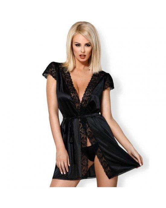 Obsessive - Kimono sexy nero XXL