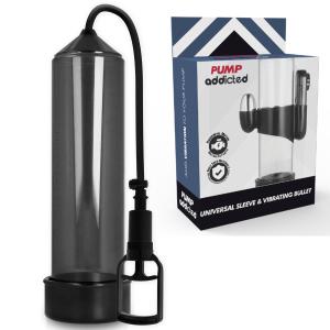 Pompa erezione RX7 nera con vibratore - Pump Addicted
