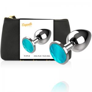 Plug Anale in Metallo Cristal Azul Taglia L - Coquette