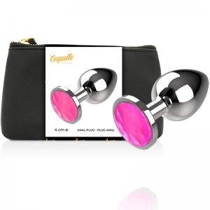 Plug Anale in Metallo Cristal Pink Taglia L - Coquette
