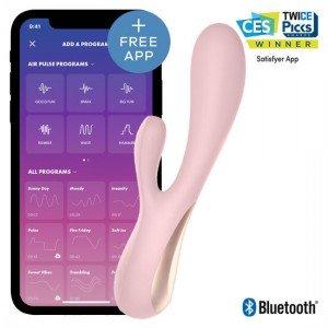 Vibratore Mono Flex Rosa con App - Satisfyer