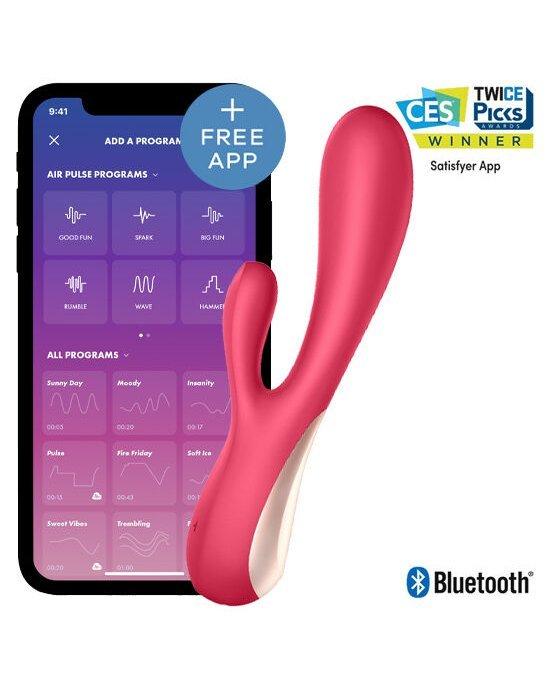 Vibratore Mono Flex Rosso con App - Satisfyer - Sexy Shop
