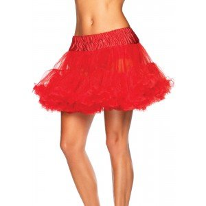 Sottogonna corta tulle rosso T/U - Leg Avenue