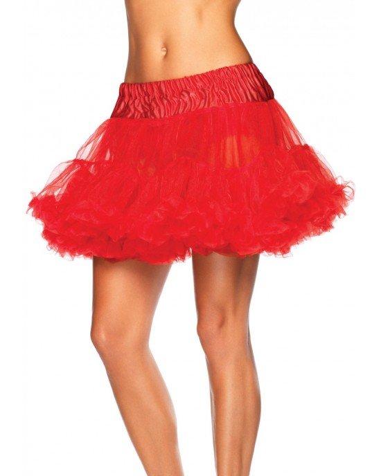 Sottogonna tulle rossa T/Plus - Leg Avenue