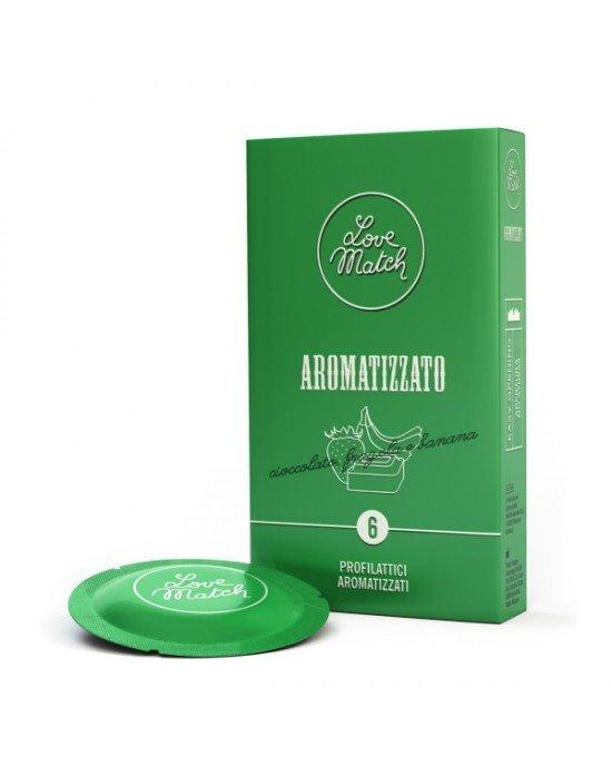 Preservativo aromatizzato confezione 6 pezzi - Love Match