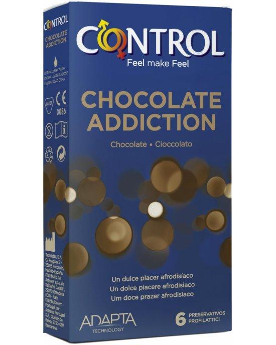 Preservativo cioccolato addiction confezione 6 pezzi - Control