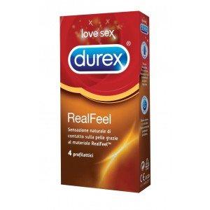 Preservativo real feel confezione 4 pezzi - Durex