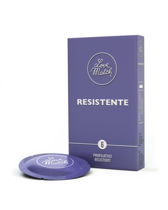 Preservativo resistente confezione 6 pezzi - Love Match