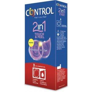 Preservativo touch & feel 2 in 1 confezione 3 pezzi - Control
